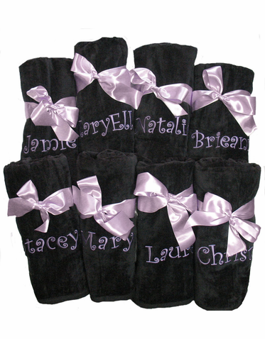 Embroidered Personalized Beach Towels - Bridesmaid Beach Towels
