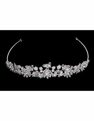 Butterfly Series Floral Bridal Tiara TR2157