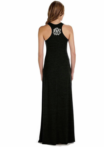 Monogrammed Maxi Cover Up Dress