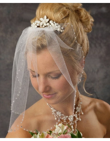 Gorgeous Cluster Pearl Bridal Comb 8041