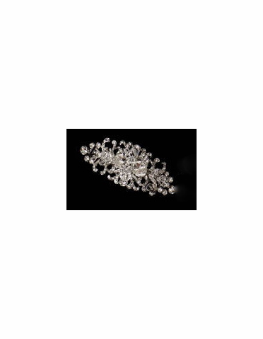 Hair Barrette: Classic Ribboned Rhinestone Barrette 7060