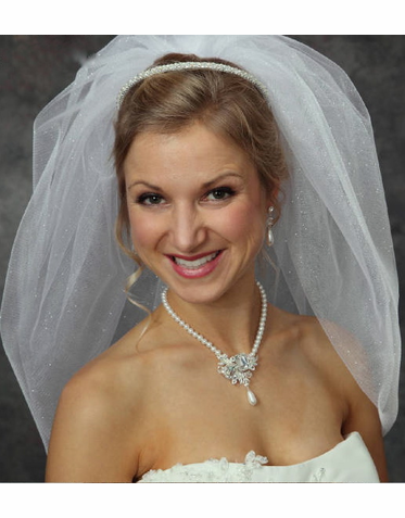 Sweet Bridal Headband of Pearls, Rhinestones and Crystals 7020