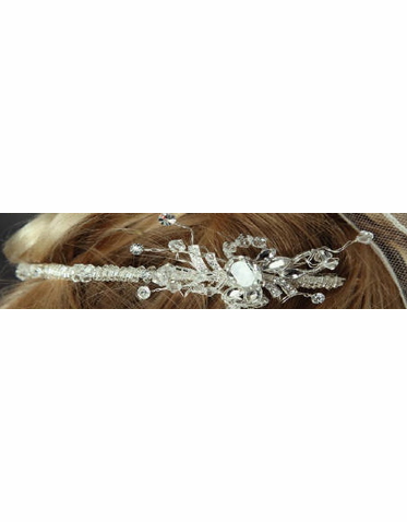 Beaded Headband with Unique Accent 7044