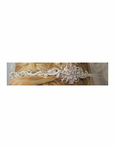 Ornate Beaded Headband with Side Detail - Hair Jewelry 6035