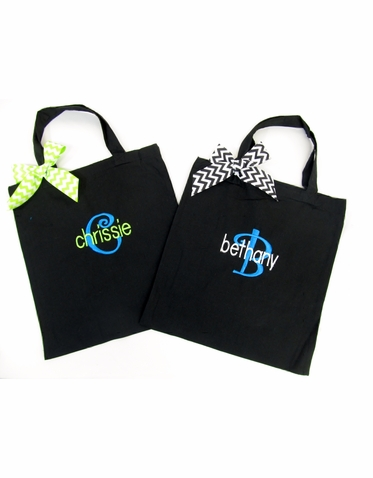 Cute Custom Embroidered Tote Bag