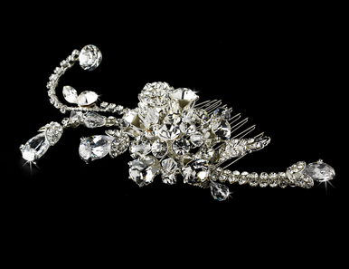 Rhinestone and Crystal Bridal Hair Comb