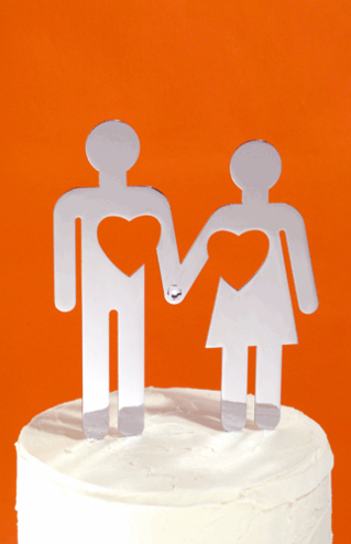 CLEARANCE: Iconic Bride and Groom Cake Topper - Last One!
