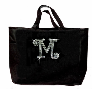 Gorgeous Bling Initial Tote Bag - Lots of Colors Available