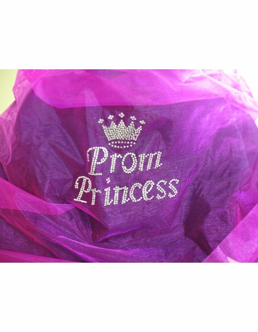 Prom Shawl with Prom Princess Rhinestone Design - Choice of Colors