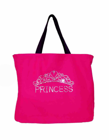 Rhinestone Princess Tote Bag with Tiara