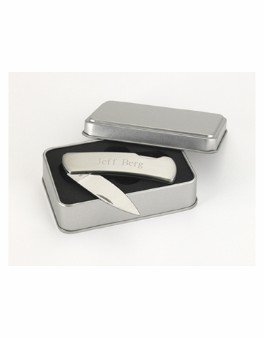 Stainless Steel Lock-Back Personalized Knife