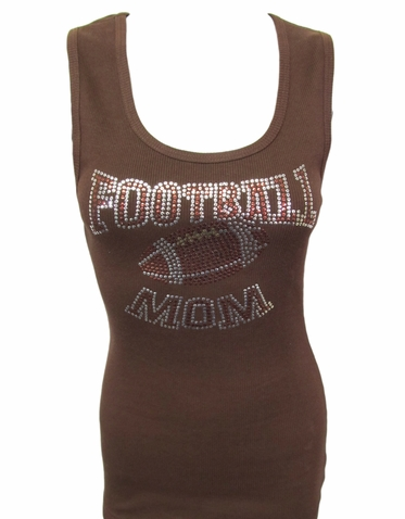 Sequin Football Mom Tank or T-Shirt