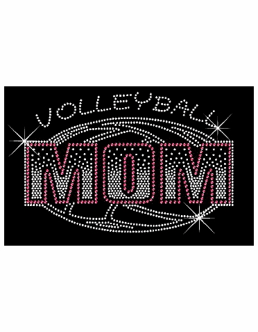 Volleyball Mom Rhinestone Tee Tank or Tote