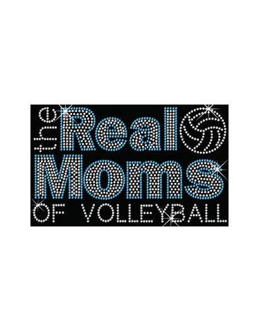 The Real Moms of Volleyball Rhinestone Tank Tee or Tote