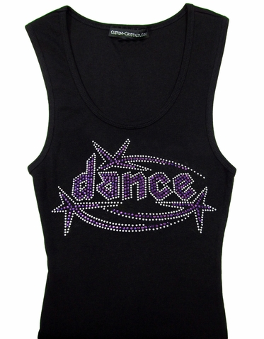 Custom Dance with Stars Rhinestone Tank Top or T-Shirt