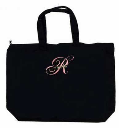 New Fancy Monogrammed Tote Bag with Initial and Name
