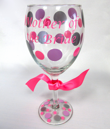 Custom Wine Glasses for the Mother of the Bride and Groom