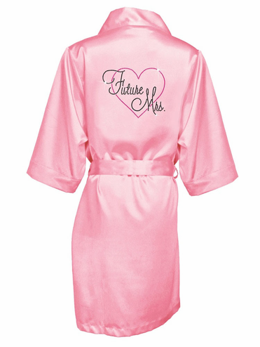 Rhinestone Embellished Future Mrs. Robe - Just Married Robe with Large Heart