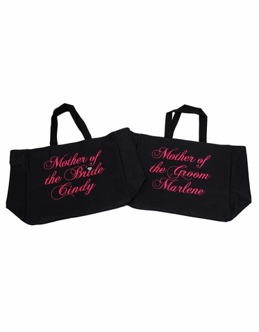 Embroidered Bridal Party Tote Bags - Many Colors Available!