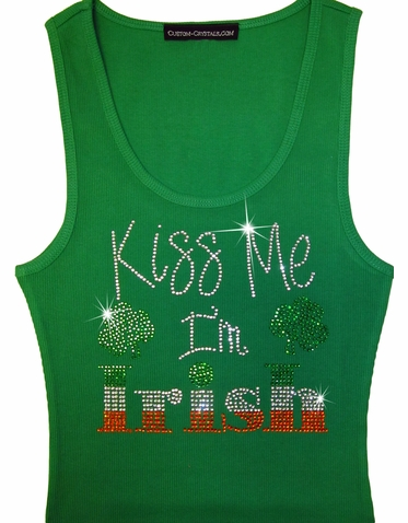 Kiss Me I'm Irish Tank or Shirt