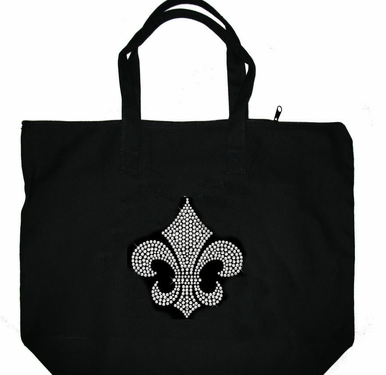 Crystal Regal Fleur de Lis Tote Bag - Choice of Crystal Colors
