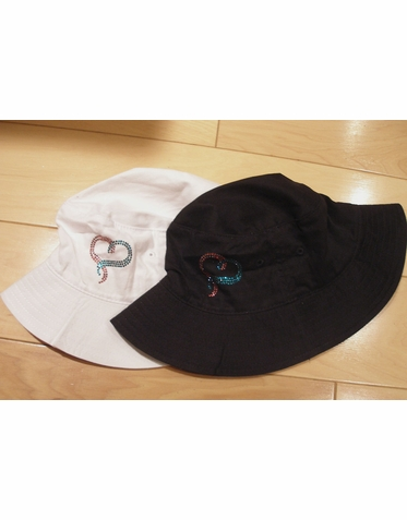 BRCA Hat - Breast and Ovarian Cancer Crystal Heart Bucket Hat