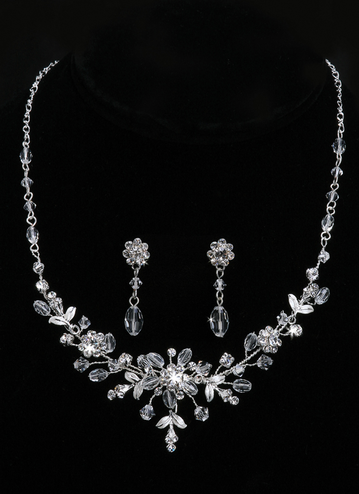 En Vogue Bridal Necklace & Earring Set NL737