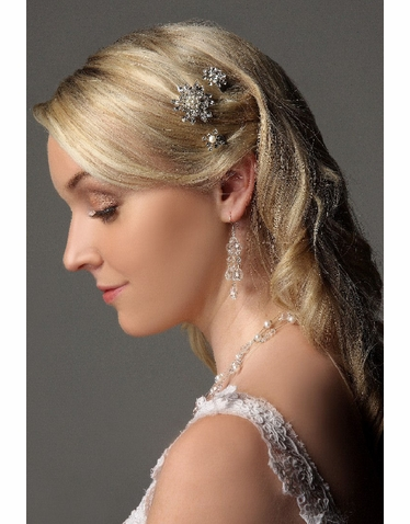 Crystal Cluster Wedding Hairpin IPN016