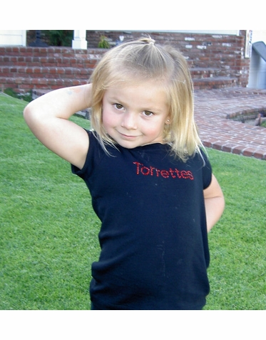 Torrance Torrettes T-Shirt with Crystal Rhinestones