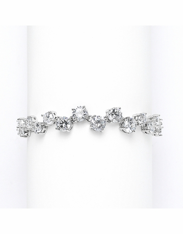 Gorgeous Bridal Zirconia Tennis Bracelet