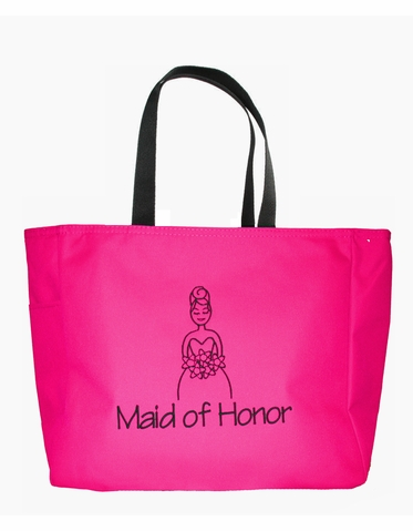 Custom Embroidered Maid of Honor Tote Bag - Matron of Honor Tote Bag