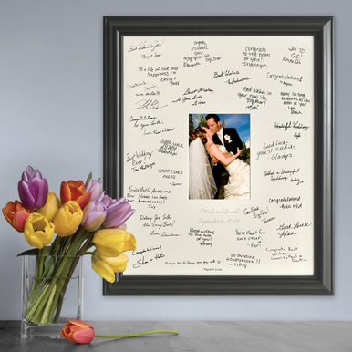 Personalized Laser Etched Wedding Signature Frame