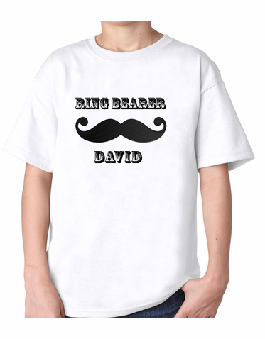 Personalized Mustache Ring Bearer Shirt