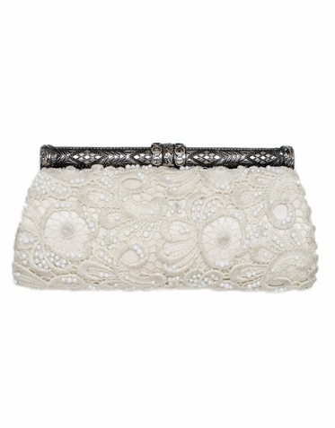 Beaded Lace Bridal Clutch Purse