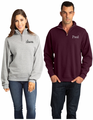 Custom Embroidered Quarter Zip Pullover