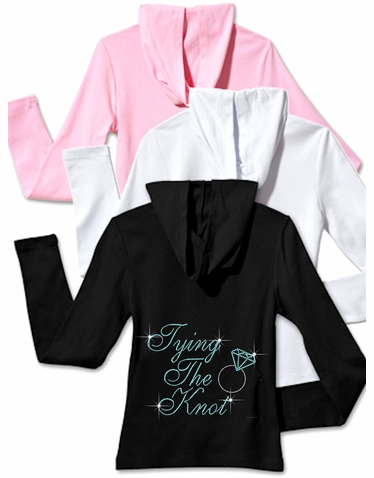 Tying the Knot Hoodie with Zip Front