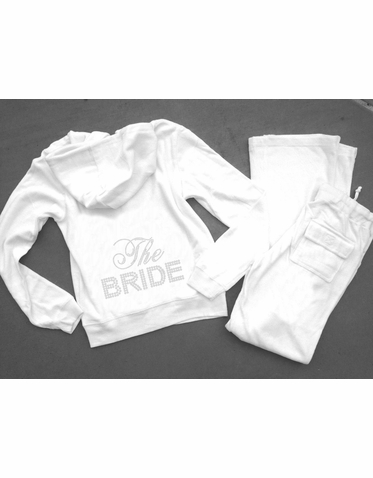 Velour Bride Tracksuit and Bridesmaid Sweatsuits - Other Great Colors Too