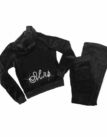 Velour Mrs. Hoodie and Pants Set in Velour - Trendy Colors Available