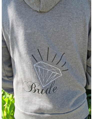Custom Glitter Diamond Bride Hoodie or Pullover Bride Sweatshirt
