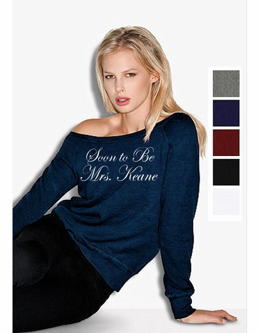 Personalized Slouchy Sweatshirt in Five Colors