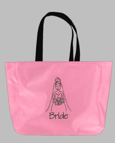 Custom Embroidered Bride Tote Bag