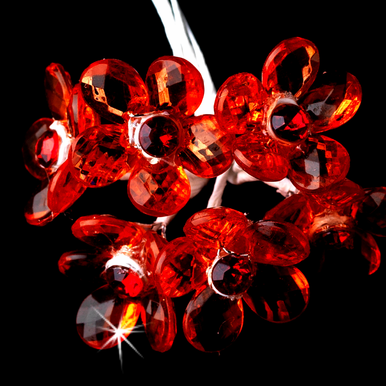 Red Crystal Flower Bouquet Jewels
