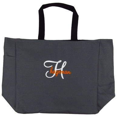 Embroidered Tote Bag with Name Overlay - Many Embroidery Options Available!