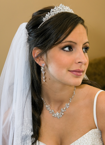 Stunning Crystal Tiara with Freshwater Pearls or Crystals Only
