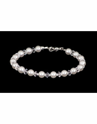 NEW! Special Collection Alternating Pearl and Crystal Bracelet