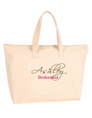 Personalized Canvas Tote Bag - Many Colors Available!