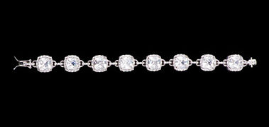 NEW! Special Collection Square Rhinestone Clasp Bracelet