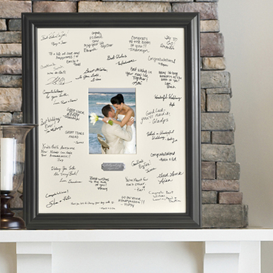 Wedding Wishes Signature Frame - With Engraving Plate