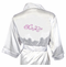 Embroidered Bridal Party Robes in New Whimsy Scroll Font