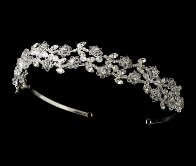 Ornate Crystal Headband - Bridal Headband